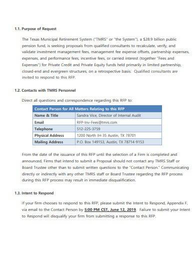 sample private equity investment proposal