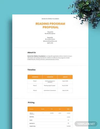 sample program proposal template