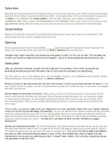 sample sales pitch template
