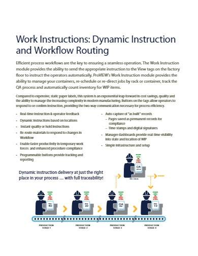 sample work instruction template