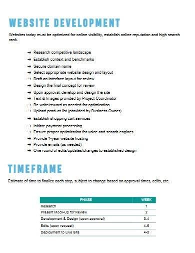 simple digital marketing proposal