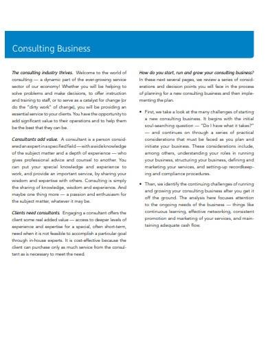 simple hr consulting business plan