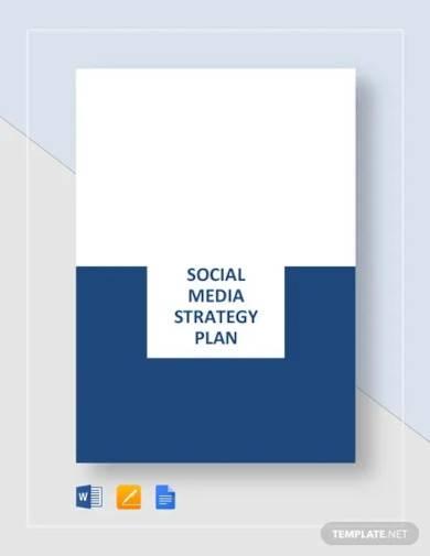 social media strategy plan template