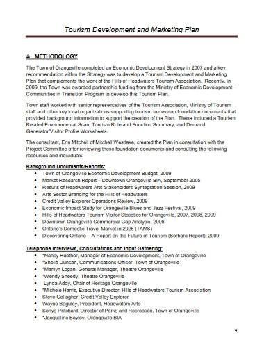 tourism development marketing plan