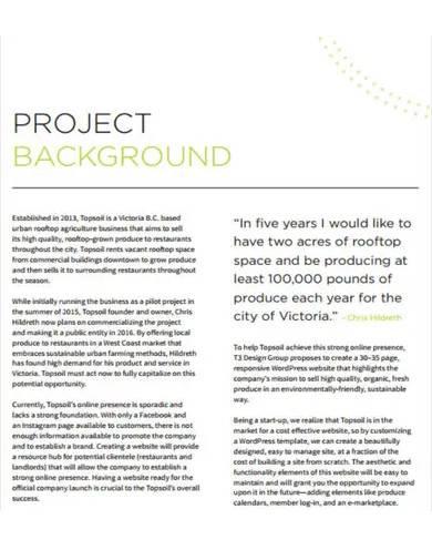university website project proposal
