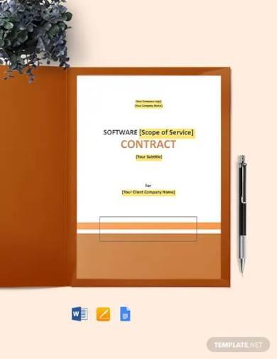 agile software development contract template