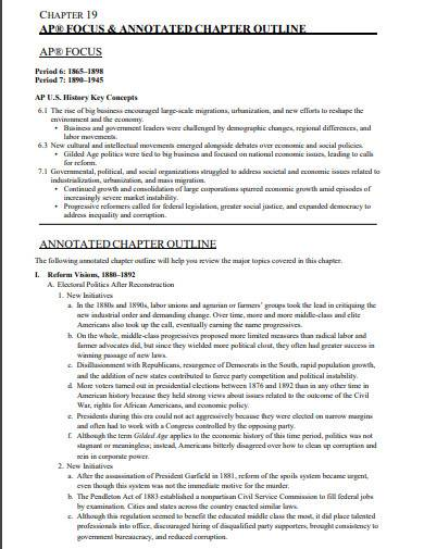 annotated chapter outline template