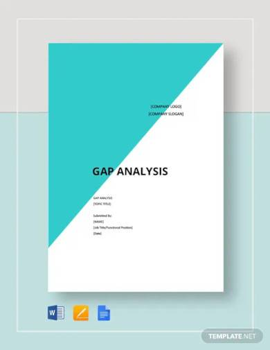 blank gap analysis template