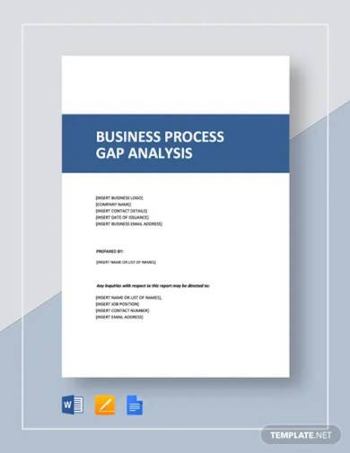 business process gap analysis template