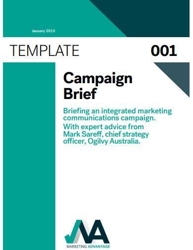 campaign brief template