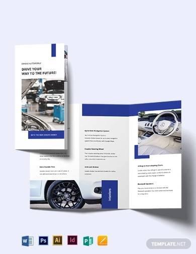 car detailing tri fold brochure