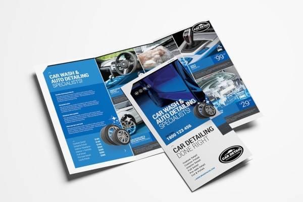 car detailing trifold brochure