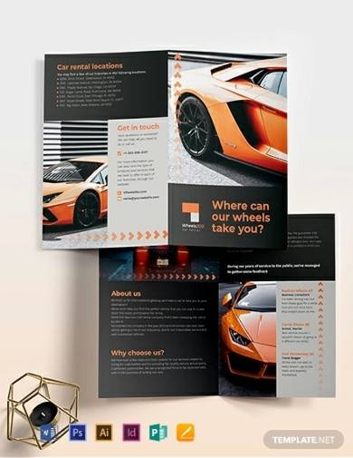 car rental bi fold brochure