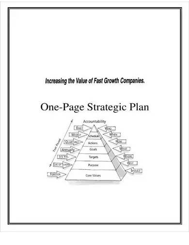 company one page strategic plan