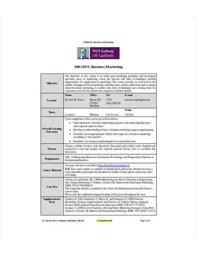 e commerce business marketing plan