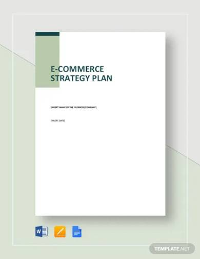 e commerce strategy plan template