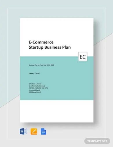e commerce start up business plan template