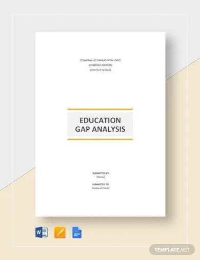education gap analysis template