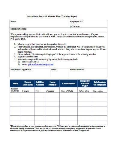 employee absence time tracking