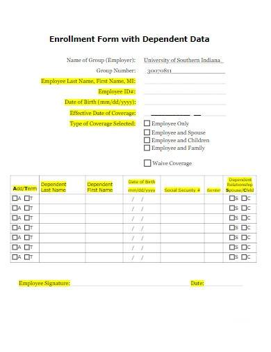 employee data tracking form