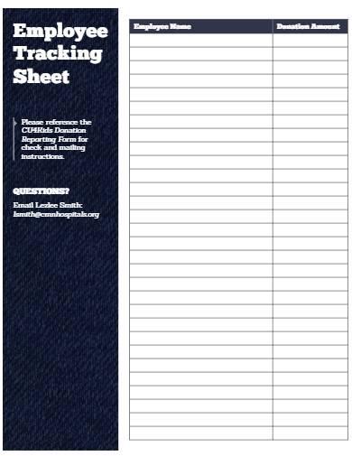 employee tracking sheet sample