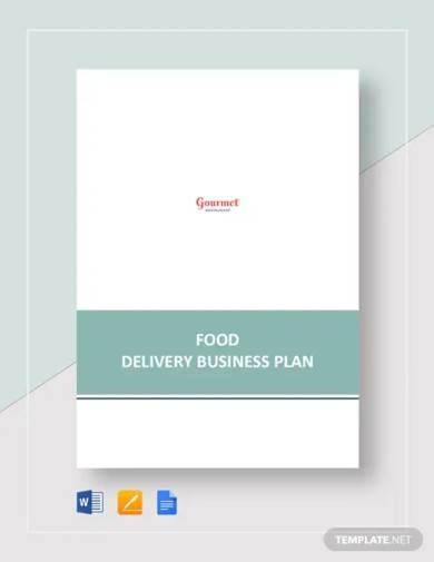 food delivery business plan template