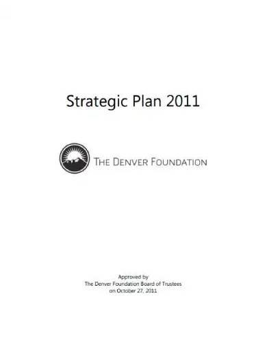 foundation strategic plan template