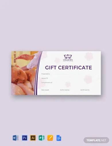 free massage gift certificate template