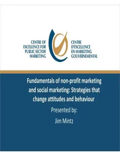 fundamentals of nonprofit marketing strategies