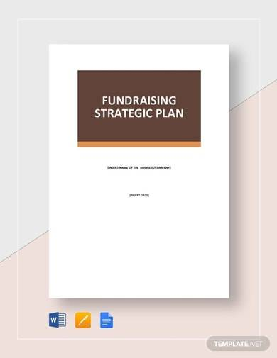 fundraising strategic plan template