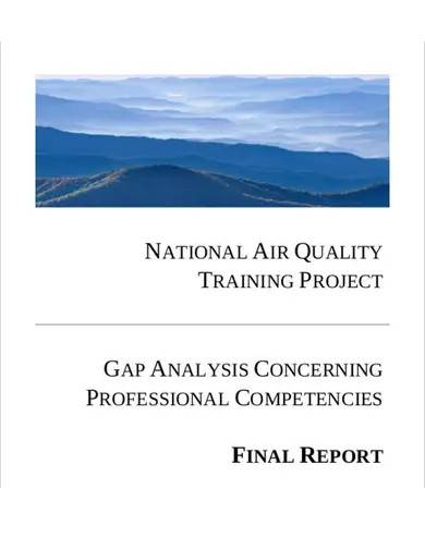 gap analysis summary report