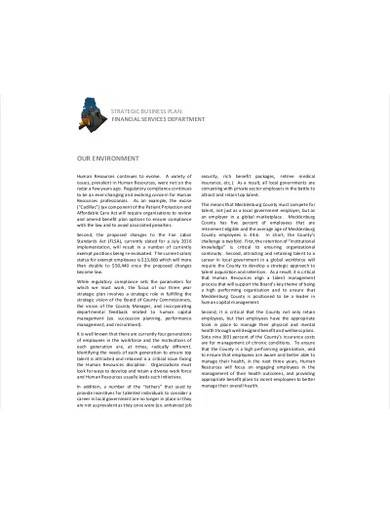 hr business strategic plan