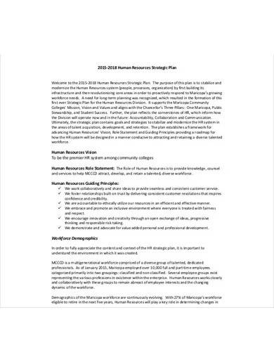 hr department strategic plan