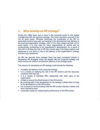 hr strategic development plan