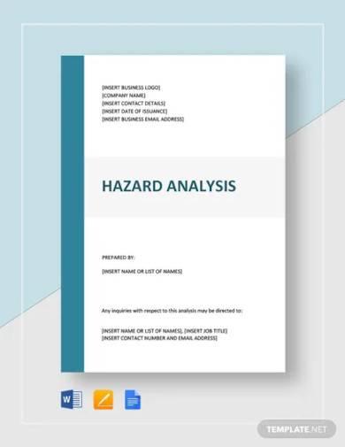 hazard analysis template
