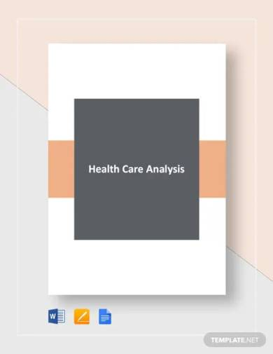 healthcare gap analysis template