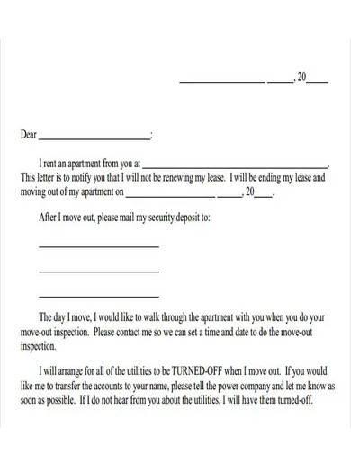 landlord tenancy notice letter