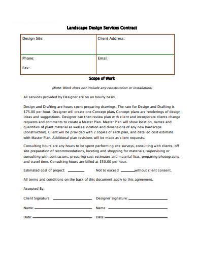 landscape design services contract