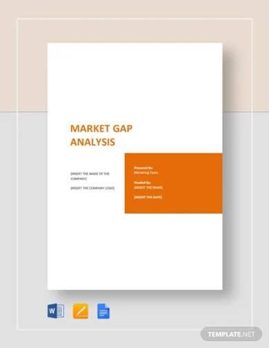 market gap analysis template