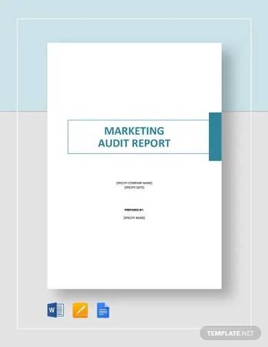 marketing audit report template