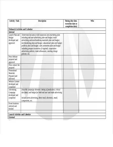 new product launch plan template