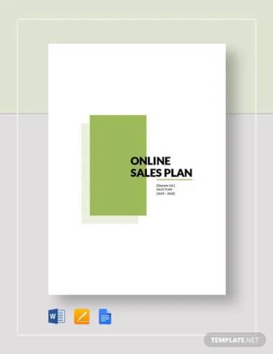 online sales plan template