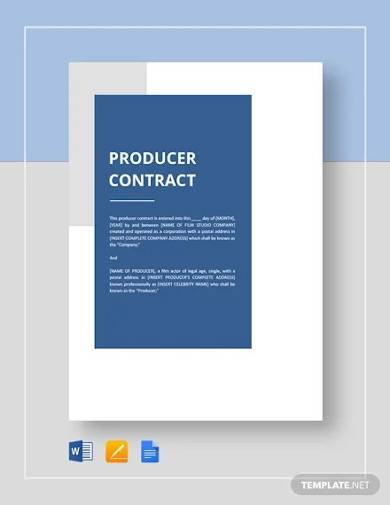 producer contract template