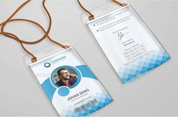professional corporate id card