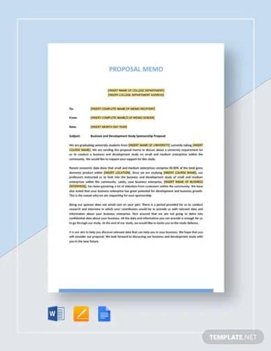 proposal memo template