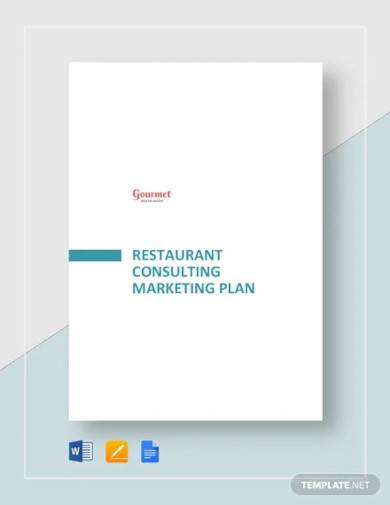 restaurant consulting marketing plan template