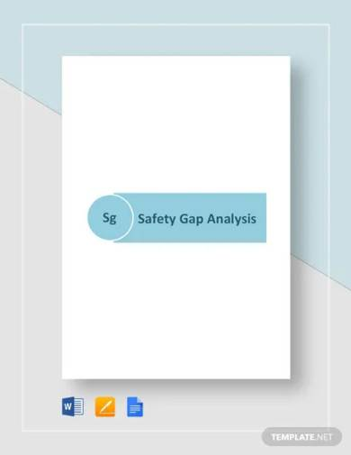 safety gap analysis template