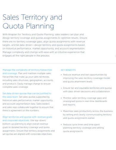 sales territory quota planning