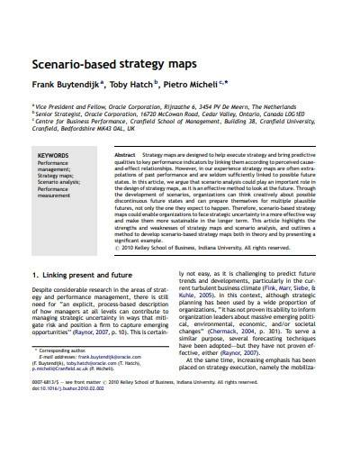 sample business strategy maps
