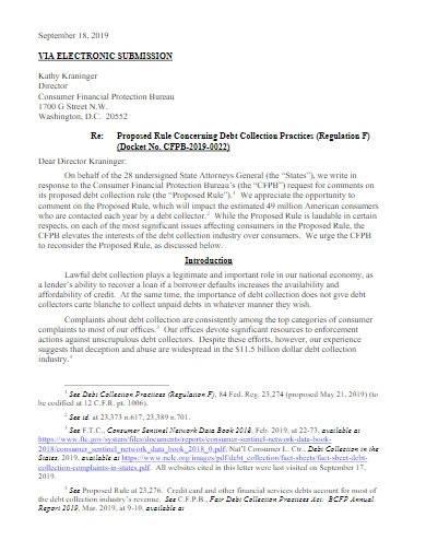 sample debt collection letter